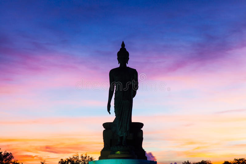 Download Big Buddha In The Evenings. Stock Photo - Image of black, night: 34001788