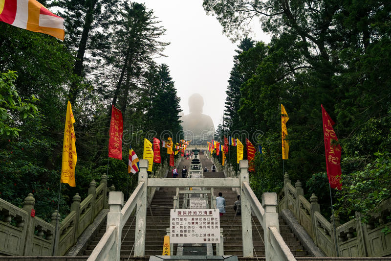 Big Buddha in Lantau island, Hong Kong stock image
