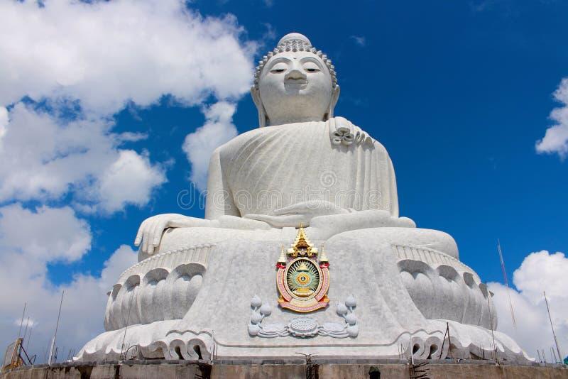 Big Buddha Phuket Thailand. With blue stock photography