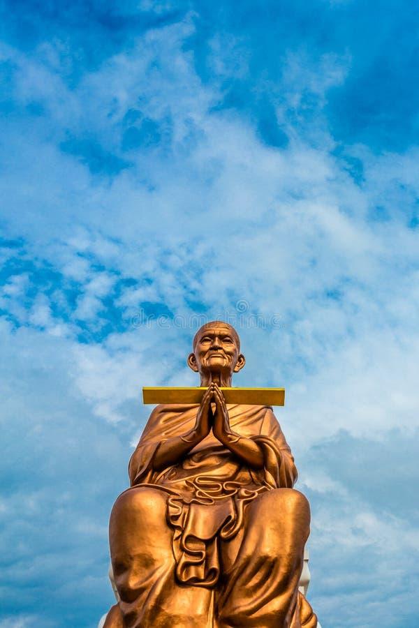 Big Buddha Somdej Phra Buddhacara (Toh Brahmaransi Wat Rakang Kositaram) in Wat Bot Temple. royalty free stock images