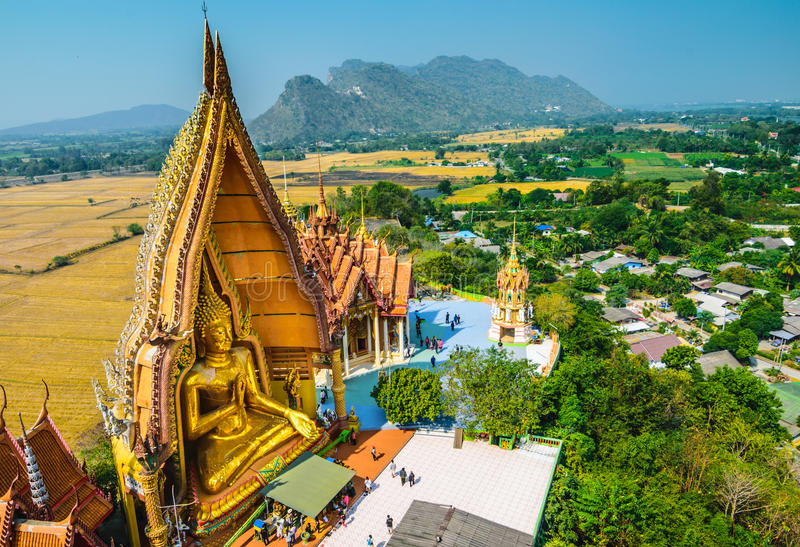 Big Buddha statue at Tiger Cave Temple (Wat Tham Sua), Kanchanaburi Province, Thailand stock images