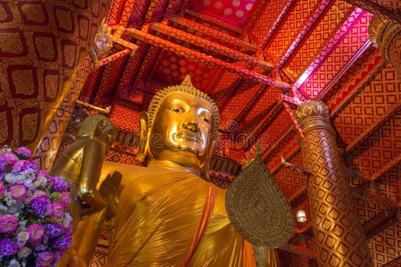 Big Buddha statue at Wat Phanan Choeng Temple in Ayutthaya Historical Park. Thailand stock photo