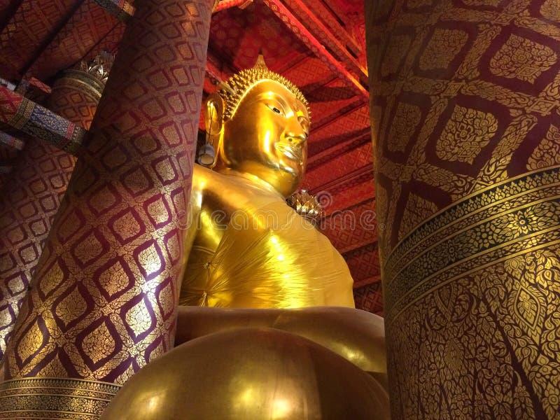 Big Buddha statue at Wat Phanan Choeng temple. AYUTTHAYA,THAILAND-NOVEMBER 24, 2018 : Big Buddha statue at Wat Phanan Choeng temple stock photography
