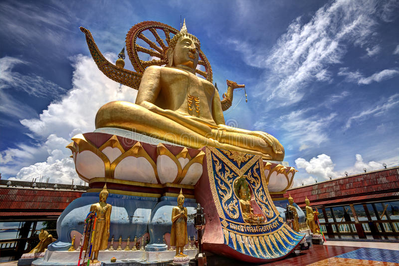 Big Buddha in Wat Phra Yai Temple royalty free stock photos