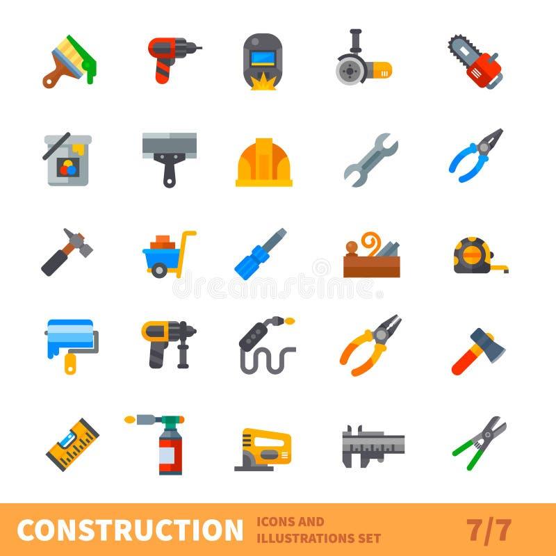 Big building icon vector set vector illustration