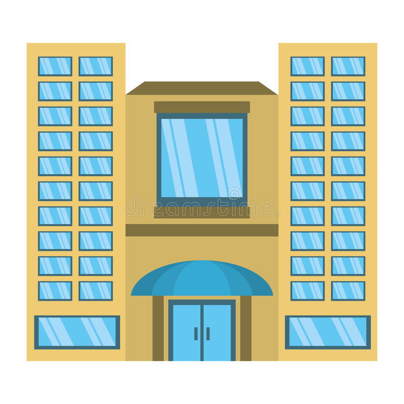 Big building style icon. Vector illustration design stock illustration