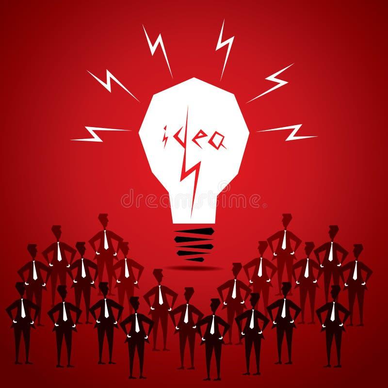Big idea bulb stock illustration