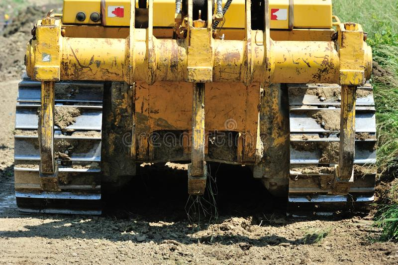 Download Bulldozer back view stock photo. Image of industry, equipment - 25544590