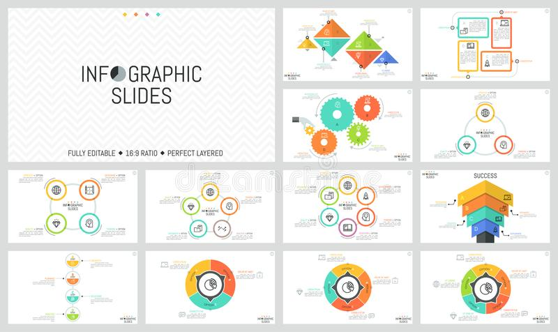 Big Bundle Of Simple Infographic Design Templates Diagrams With