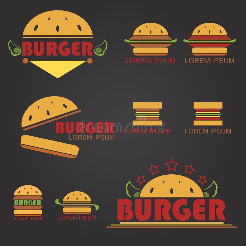 Big Burger. Logo for business about fastfood shop - vector vector illustration