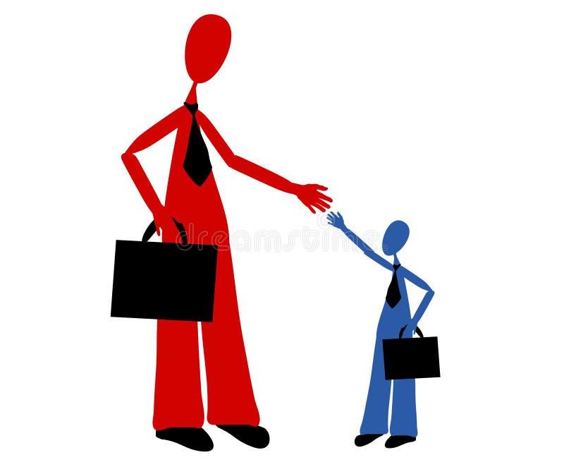 Big Business Helping Small B2B stock illustration