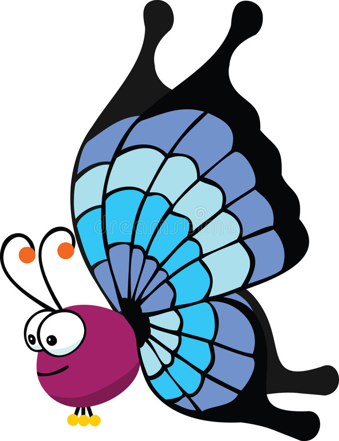 Download Big butterfly stock illustration. Image of color, retro - 4983801