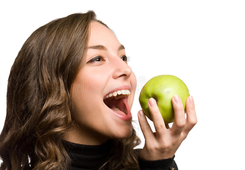 Download Big byte of health. stock photo. Image of eating, apple - 28540286