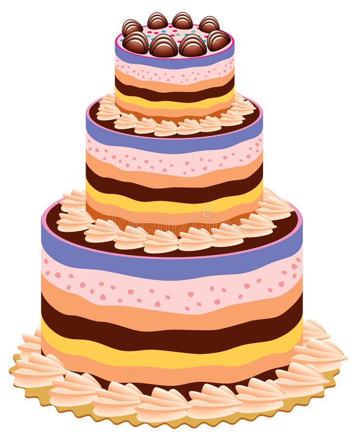 Big cake stock vector Illustration of element bakery 14569623