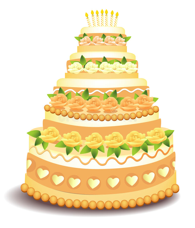 Download Big cake stock vector. Image of biscuit, birthday, greeting - 17332529