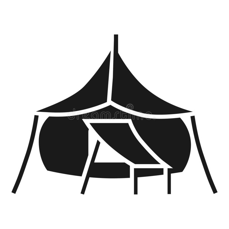 Big camp tent icon, simple style royalty free illustration