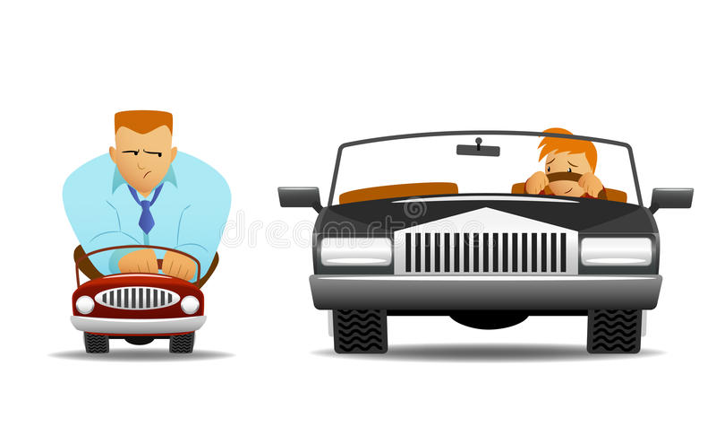 Big Car Small Car Stock Images
