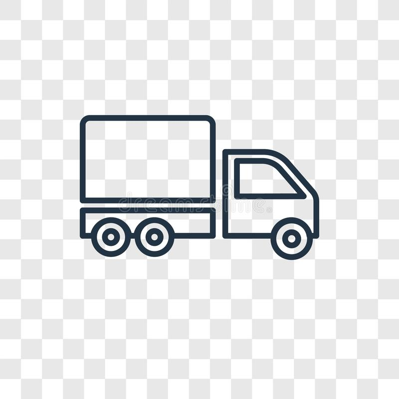 Big Cargo Truck concept vector linear icon isolated on transparent background, Big Cargo Truck concept transparency logo in. Big Cargo Truck concept vector stock illustration