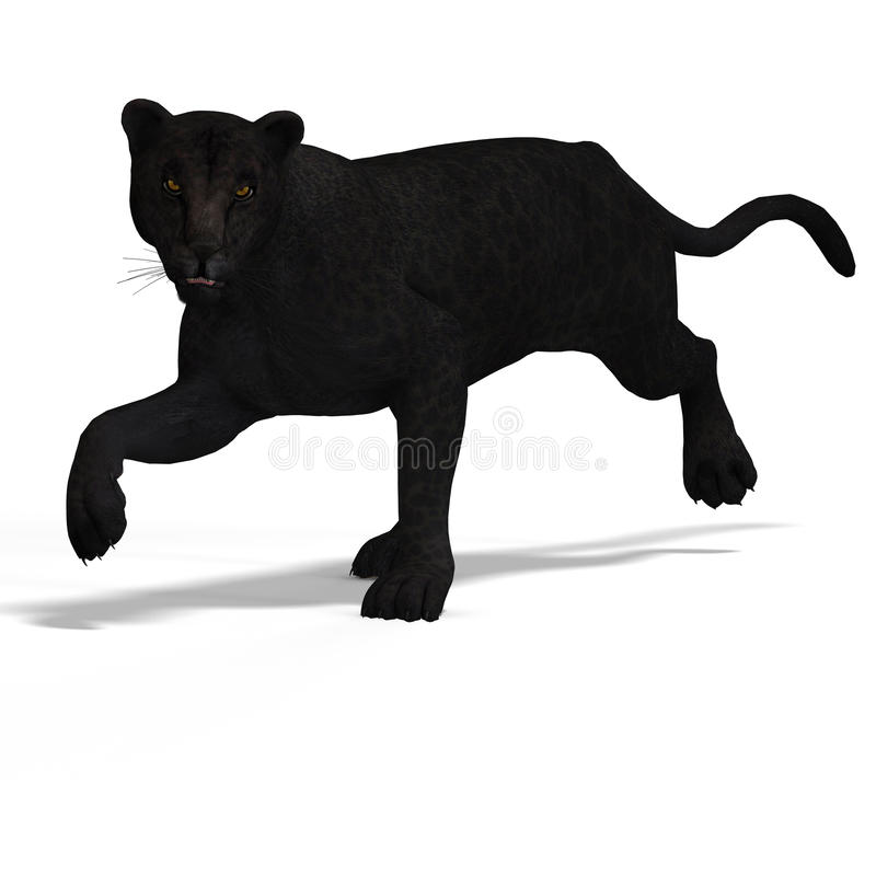 Big Cat Leopard Black royalty free illustration