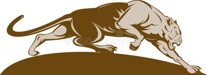 Download Big cat stalking stock illustration. Illustration of lion - 11439638