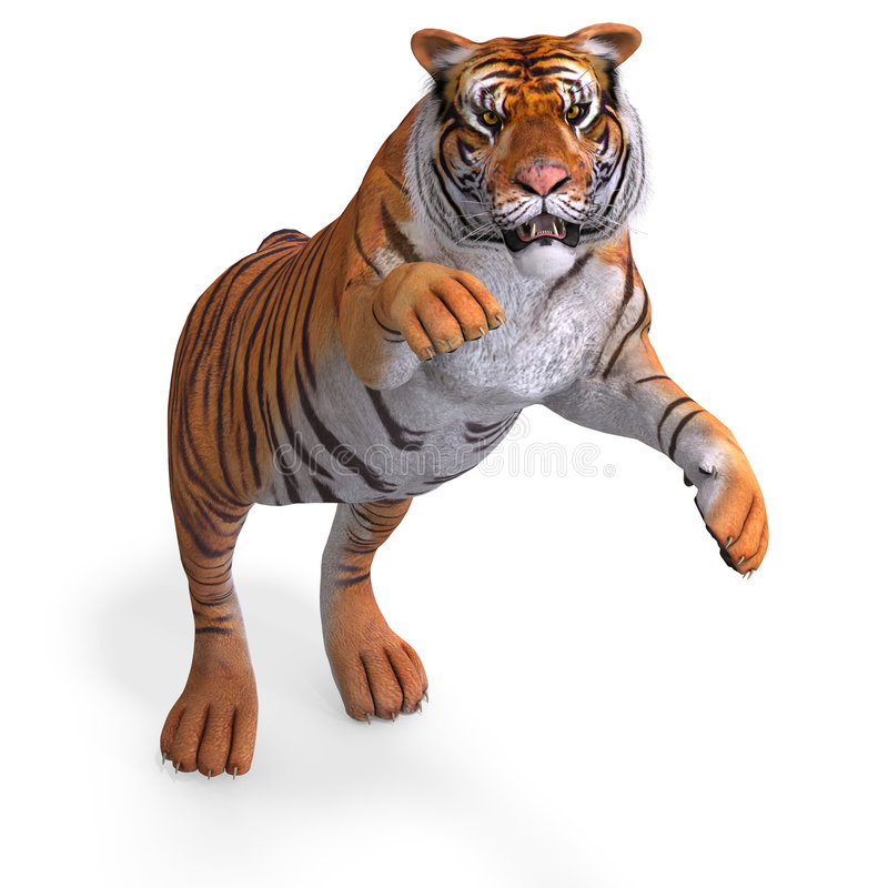 Download Big Cat Tiger stock illustration. Image of computer, generated - 9201019