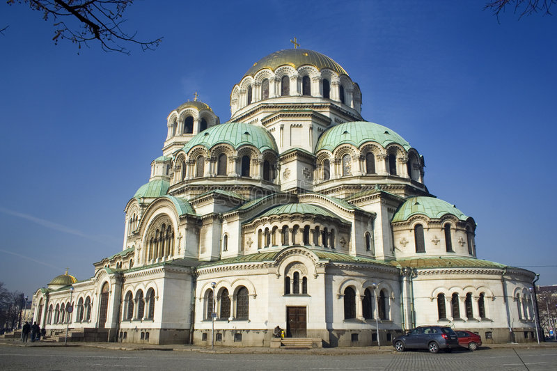 BIG CATHEDRAL IN BULGARIA royalty free stock image