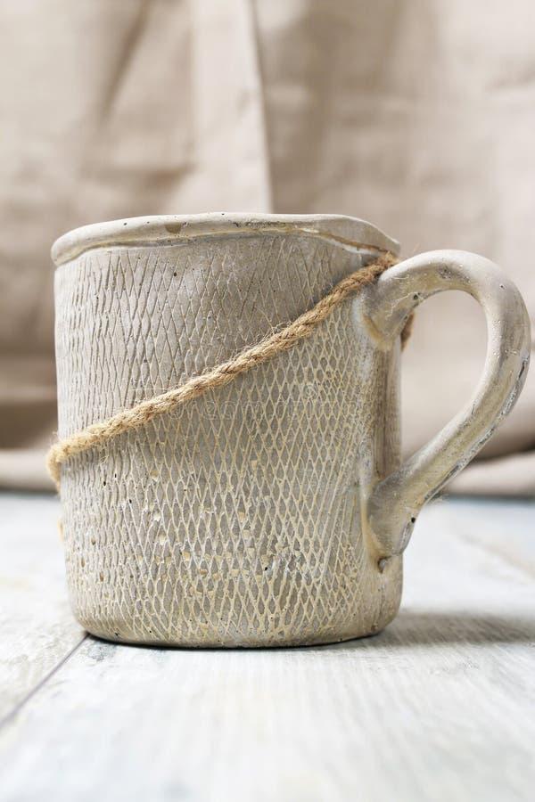 Big ceramic jug. For decoration stock photos