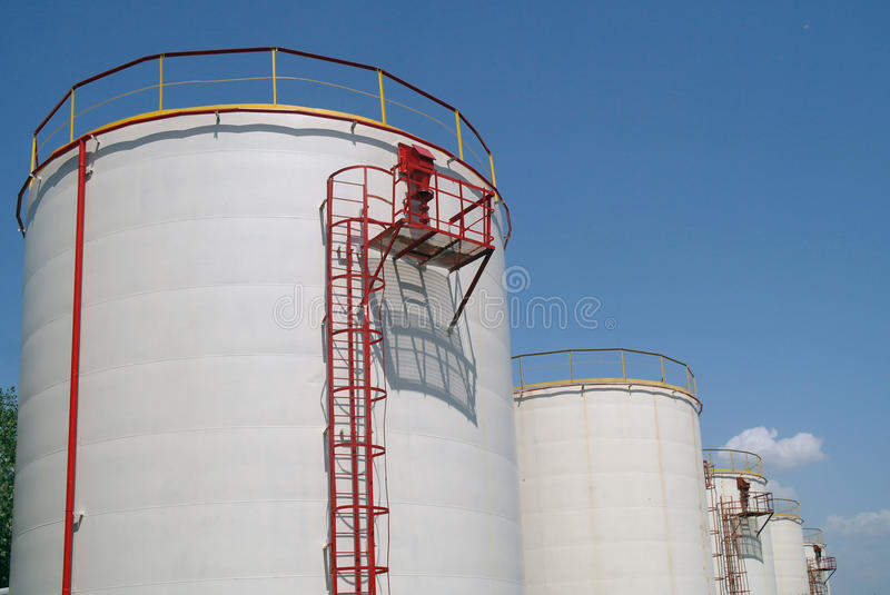 Big chemical tank petrol . stock photography