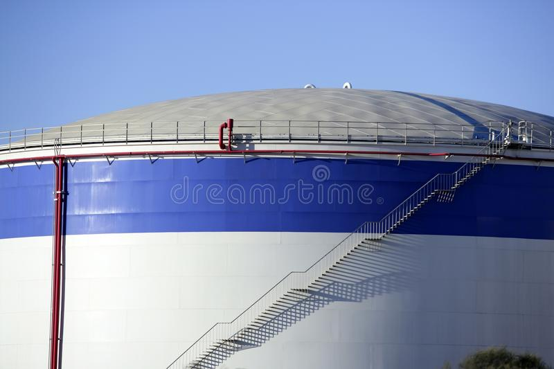 Big chemical tank petrol container oil industry stock photography