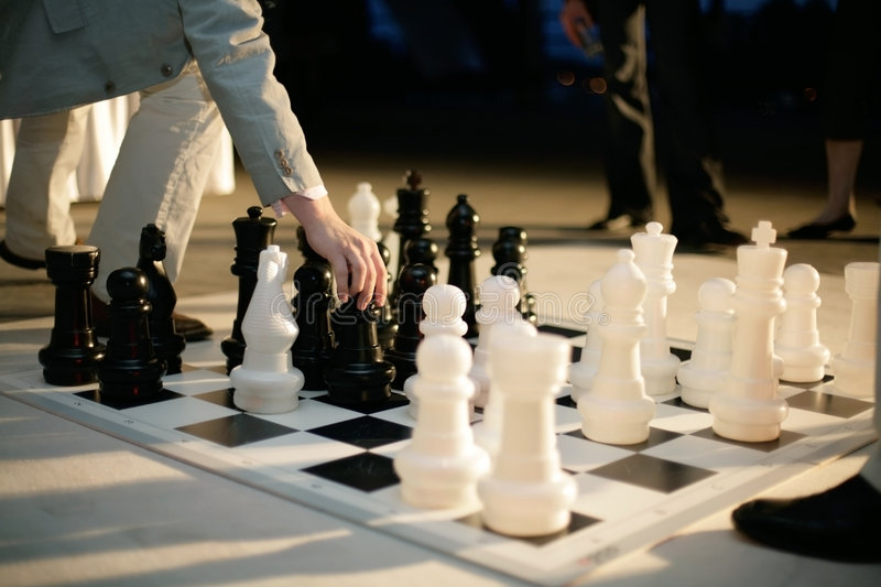 Download Big chess stock photo. Image of white, playing, game, move - 4758346