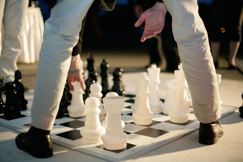 Download Big chess stock photo. Image of intelectual, play, black - 4758354
