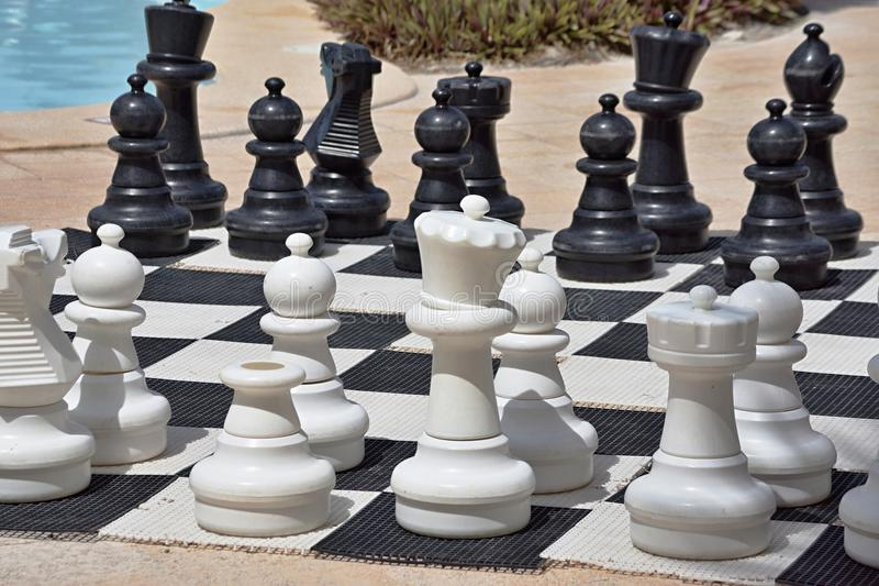 Download Big Chess For Game On A Beach Stock Image - Image: 31778751