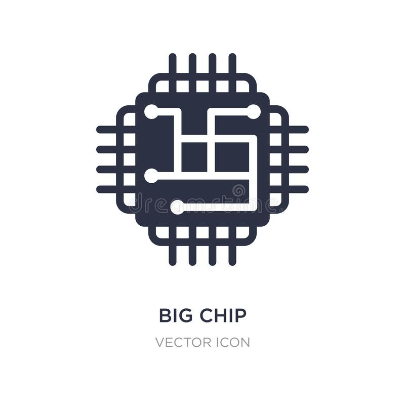 big chip icon on white background. Simple element illustration from Technology concept vector illustration