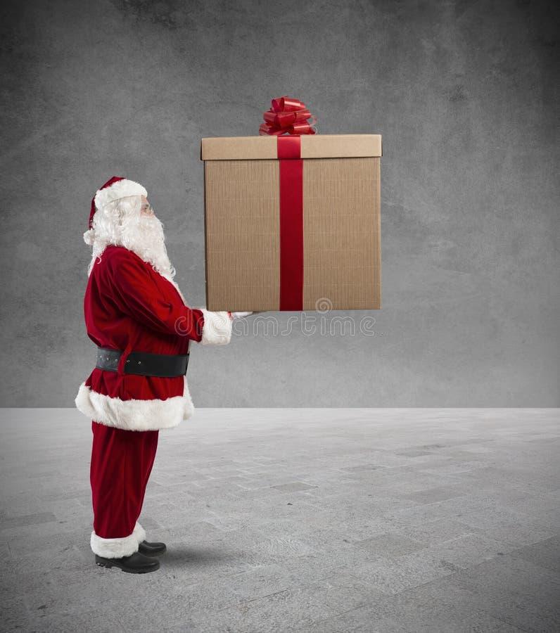 Big Christmas gift royalty free stock images