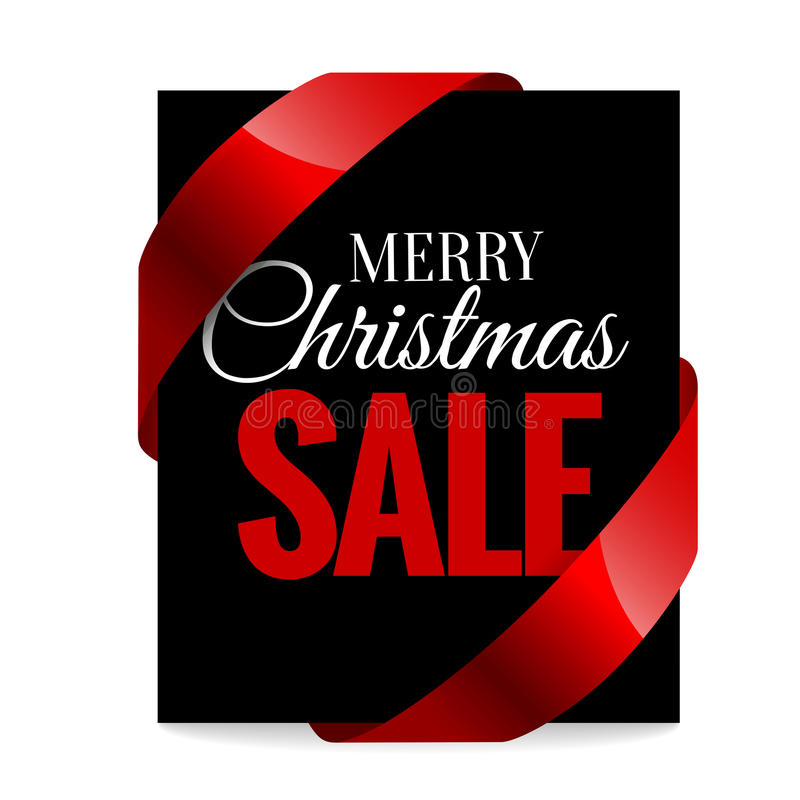 Big Christmas Sale. Black Label Stock Vector