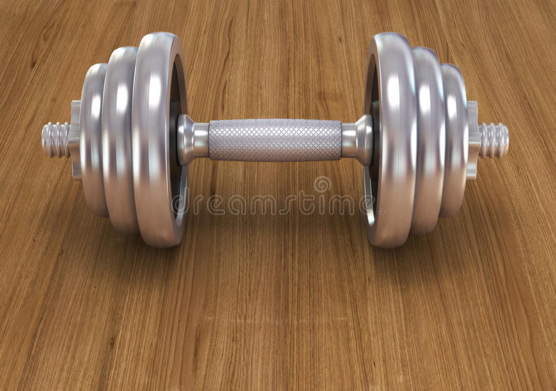 Download Big Chrome Dumbells Stock Photo - Image: 39246547