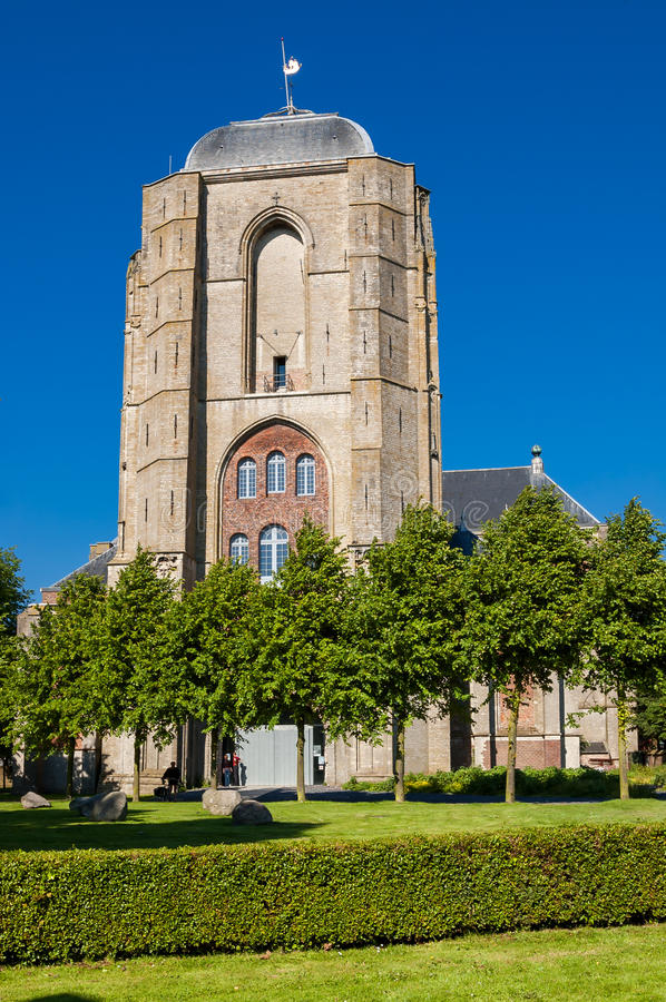 Free Big Church In Veere, Netherlands Stock Photography - 46525792