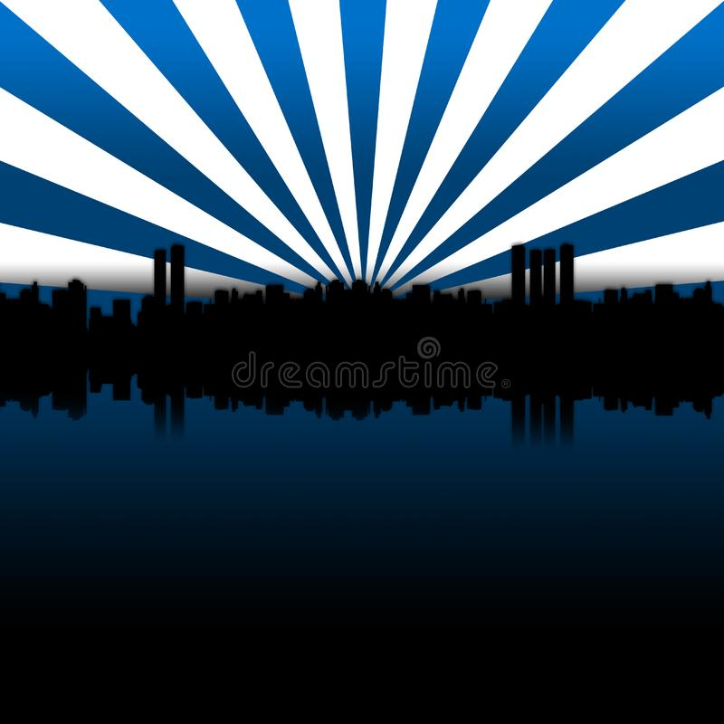 Big City Blue stock image