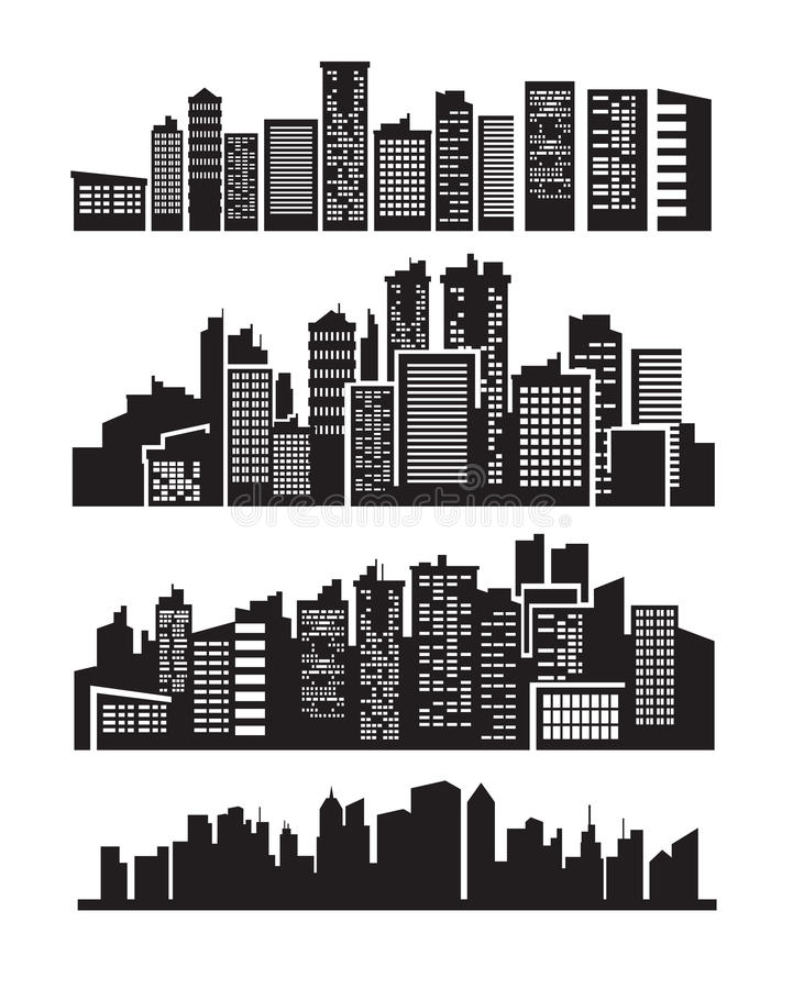 Download Big city icons stock vector. Image of exterior, construction - 26977802