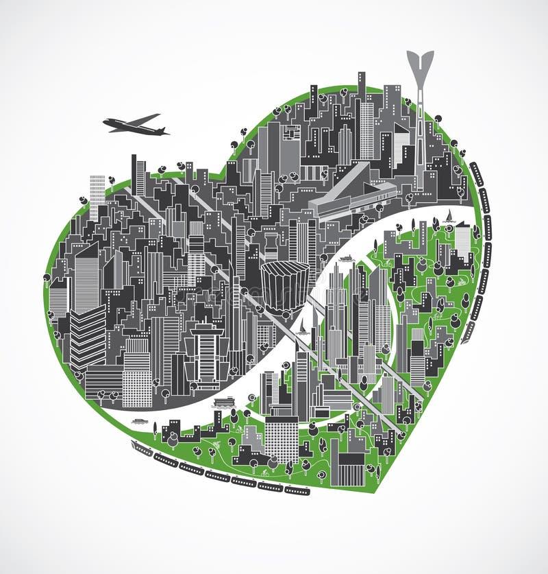 Download Big city illustration stock vector. Illustration of cityscape - 33752192