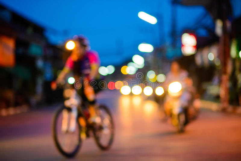 Big city life at night stock photography