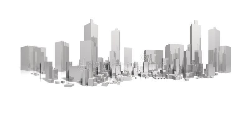 Download Big city long panorama stock illustration. Illustration of construction - 9033510
