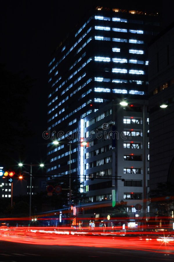 Big city night royalty free stock image