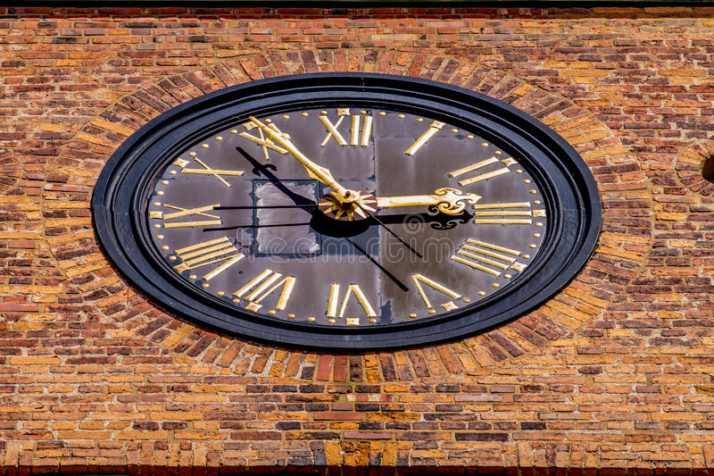 Big clock on a chuch. (Horizontal View stock photo