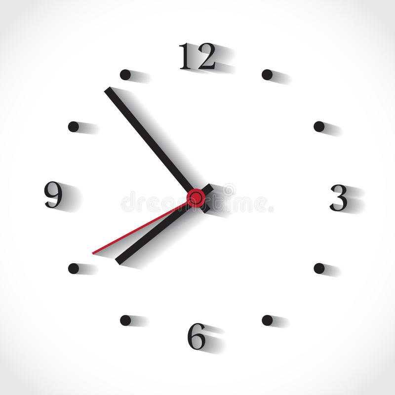 Big clock face royalty free illustration