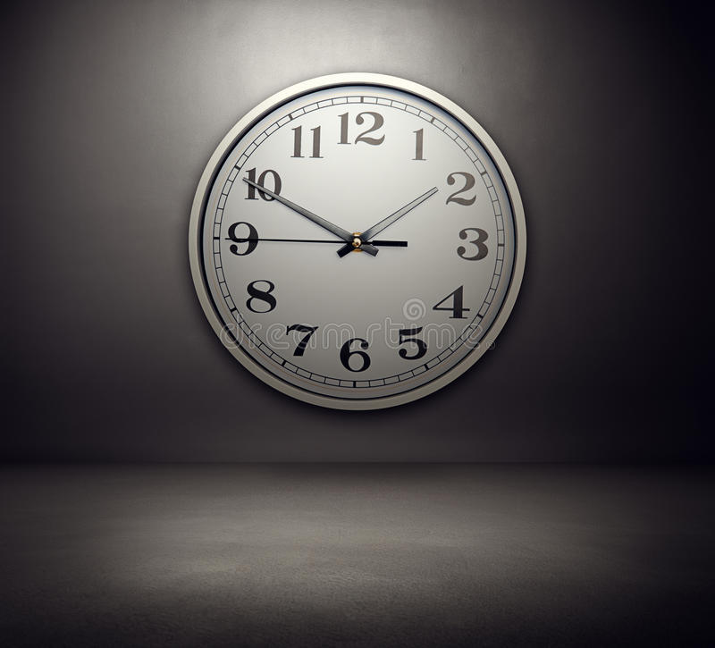 Free Big Clock On The Wall Royalty Free Stock Images - 31924849