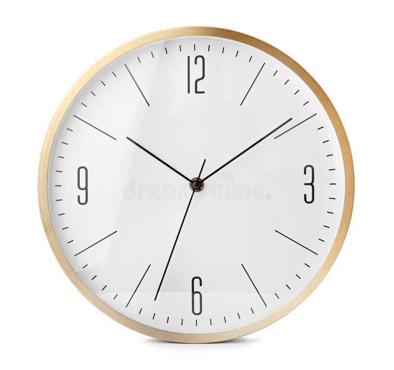 Free Big Clock On White Background Royalty Free Stock Photography - 116122717