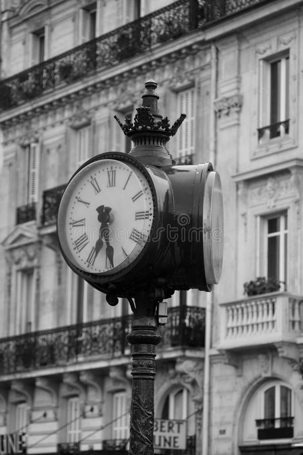 Big clock on the streets of Paris. royalty free stock images