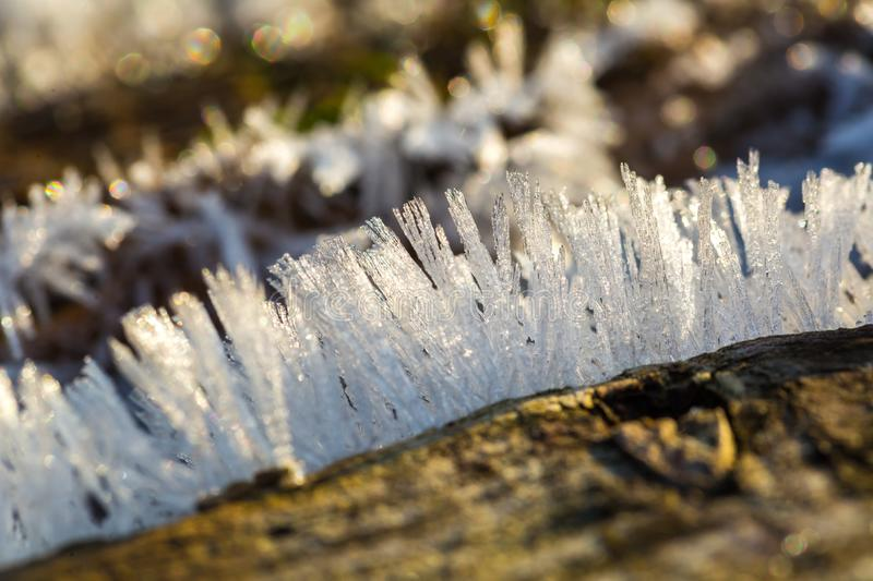 Big close up of snow or ice crystals royalty free stock photos