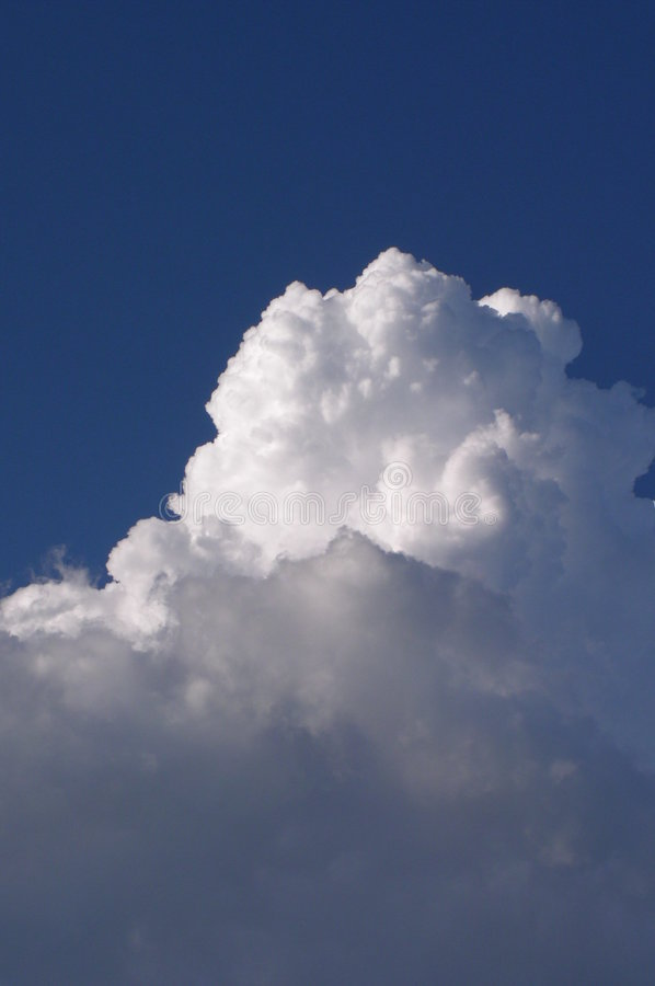 Big cloud in a blue sky. Big white cloud in a blue sky stock photography